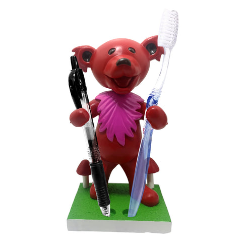 Grateful Dead Dancing Bear Pen/Toothbrush Bobblehead Holder - Red