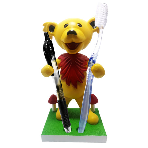 Grateful Dead Dancing Bear Pen/Toothbrush Bobblehead Holder - Yellow