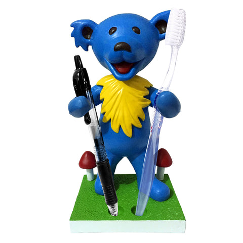 Grateful Dead Dancing Bear Pen/Toothbrush Bobblehead Holder - Blue
