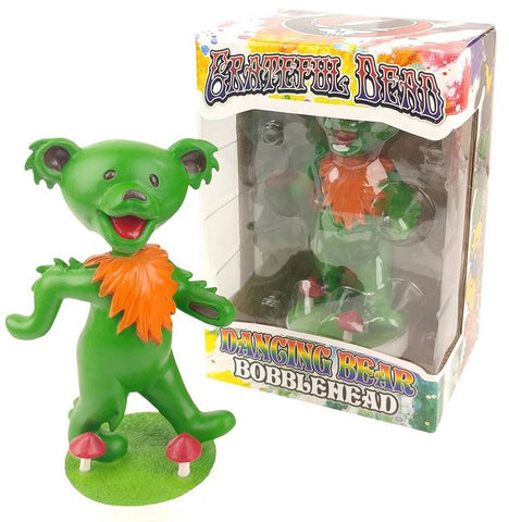 Grateful Dead Dancing Bear Bobblehead - Green