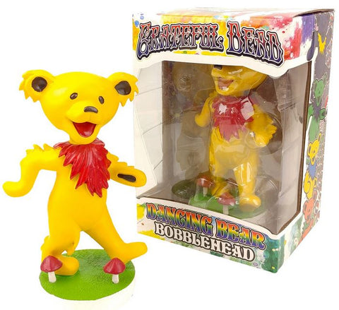 Grateful Dead Dancing Bear Bobblehead - Yellow