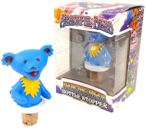 Grateful Dead Dancing Bears Bottle Stoppers - Blue Body