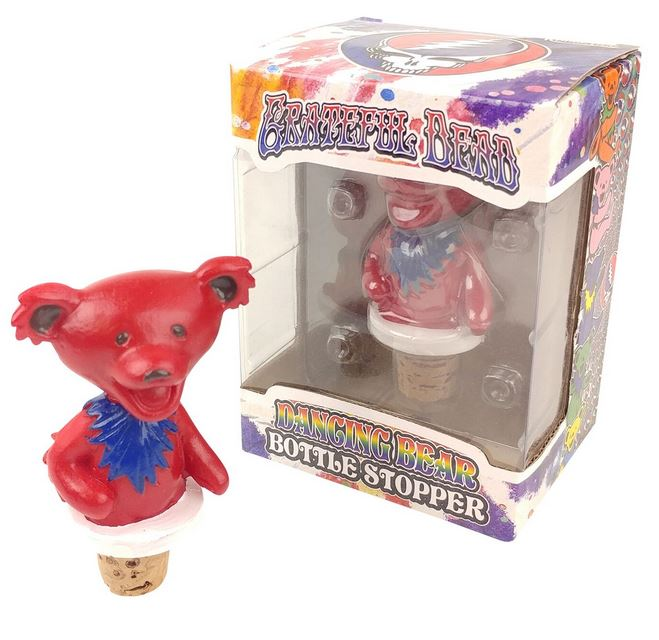 Grateful Dead Dancing Bears Bottle Stoppers - Red Body