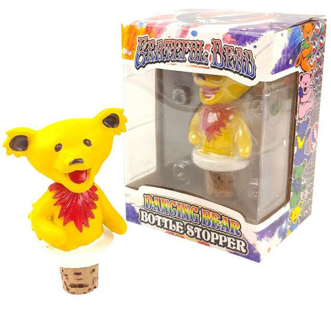 Grateful Dead Dancing Bears Bottle Stoppers - Yellow Body