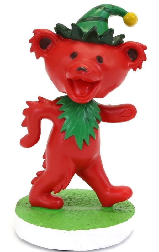Grateful Dead Elf Dancing Bear Bobblehead