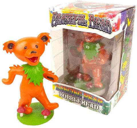 Grateful Dead Dancing Bear Bobblehead - Orange