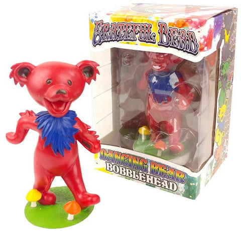 Grateful Dead Dancing Bear Bobblehead - Red
