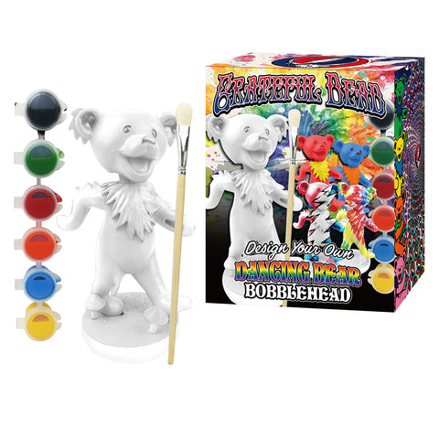 Paint Your Own Grateful Dead Dancing Bear Bobblehead