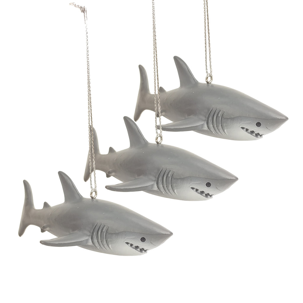 Shark Week - Great White Ornament 3 pc Set
