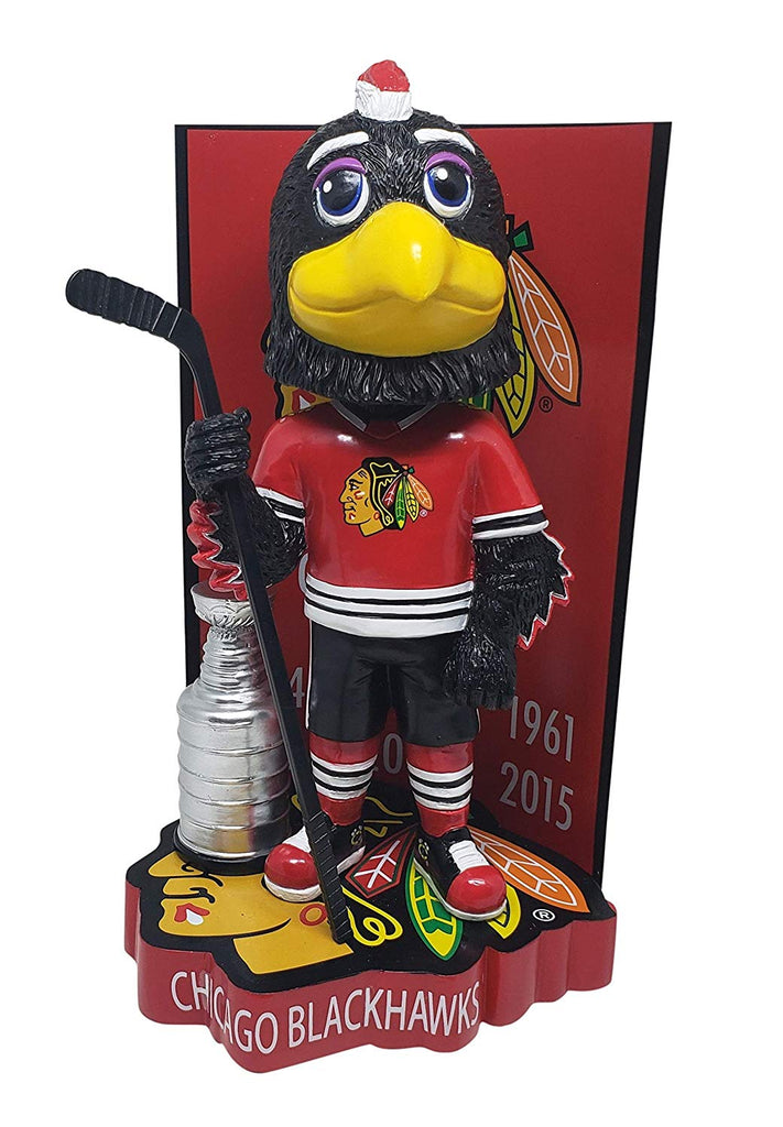 Chicago Blackhawks Tommy Hawk with Stanley Cup Bobblehead