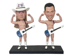Naked Cowboy Custom Bobblehead: Cowboy Fan