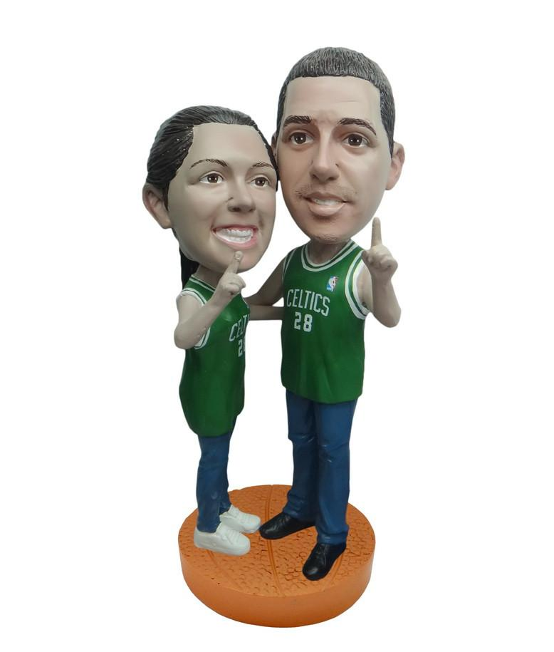 Boston Celtics Number One Couple Standard Base