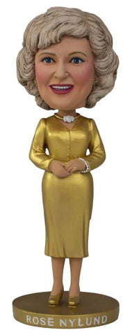 The Golden Girls Rose Nylund Gold Dress Bobblehead - Exclusive