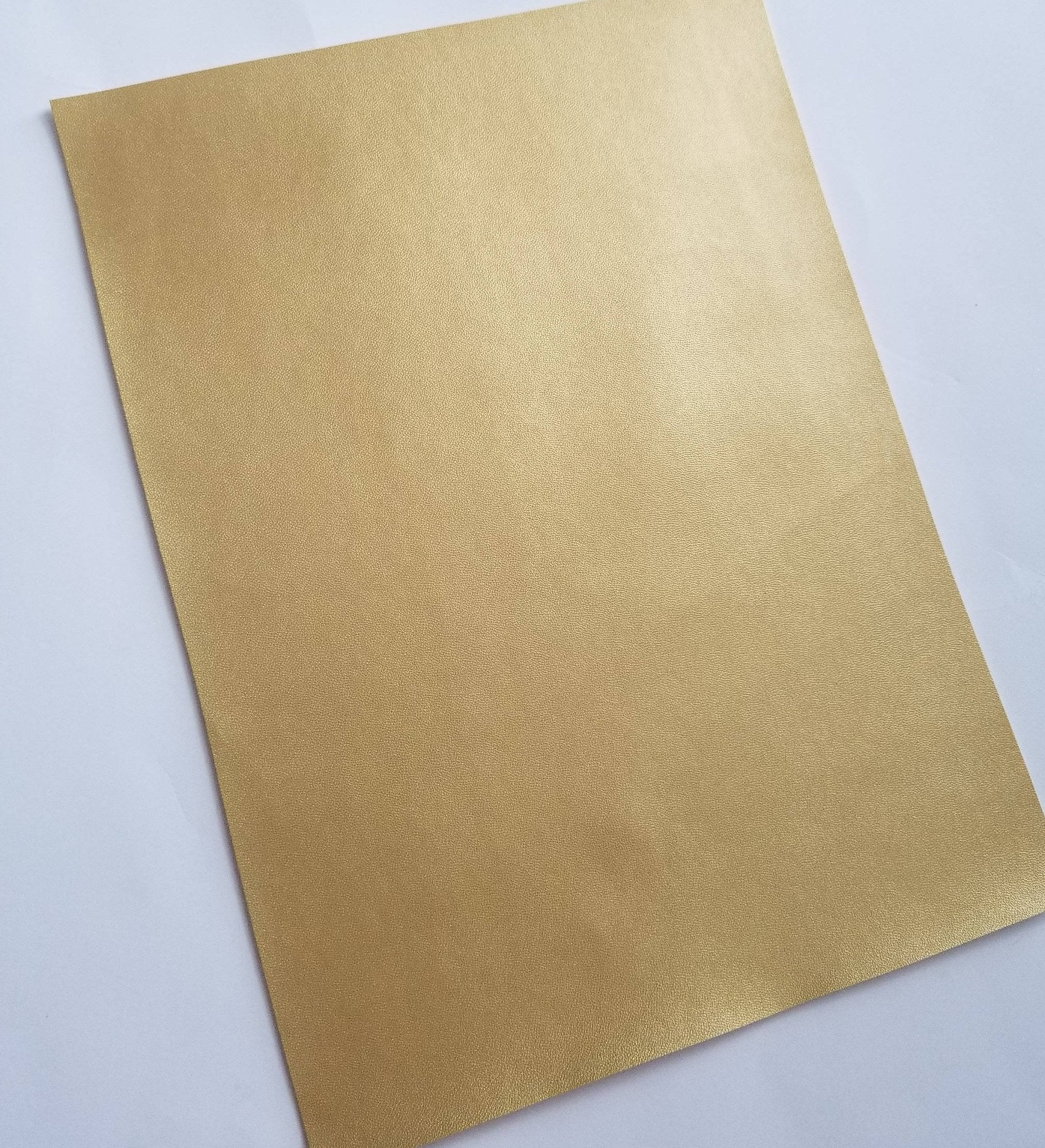 GLOSSY CHAMPAGNE GOLD smooth faux leather sheet faux leather gold vegan leather 8x11 faux leather fake leather patent leather fabric