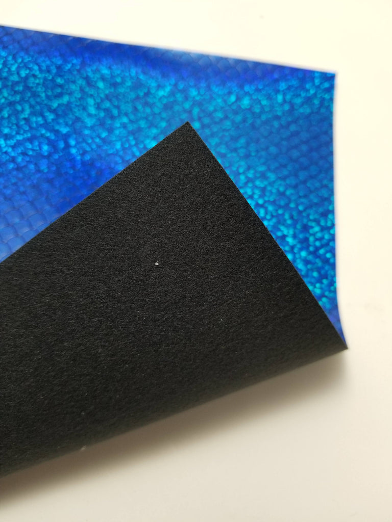 faux leather material 8x11 canvas sheet,blue fake leather,vegan leather fabric sheet ROYAL Blue iridescent faux leather sheet FISH SCALE