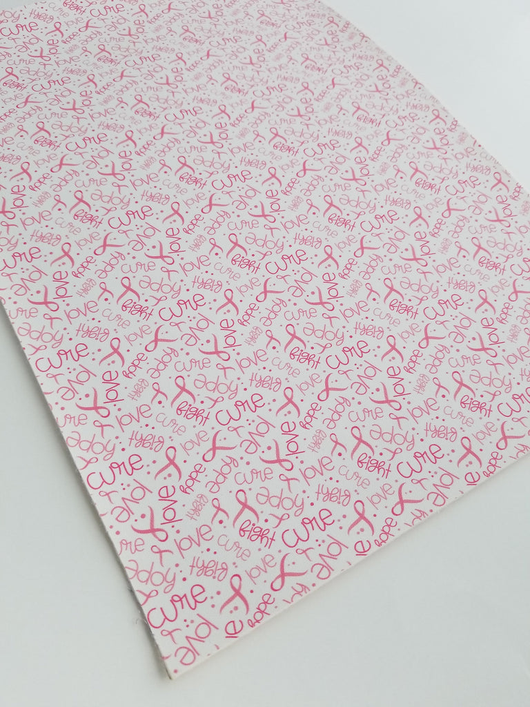 Pink ribbon faux leather sheets