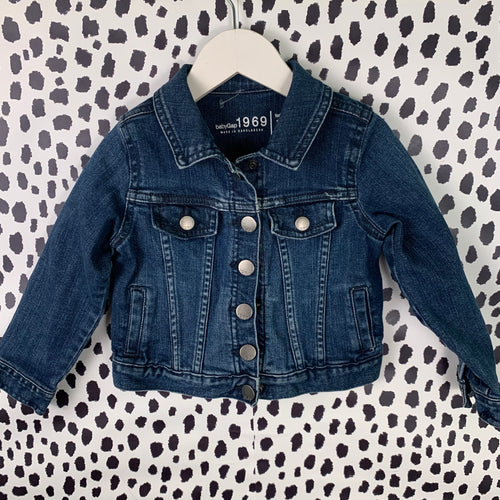 Gap custom one of a kind ☀️ jean jacket size 3