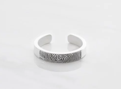 Fingerprint Rings Cheap funeral direct