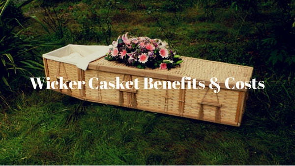 wicker casket cost