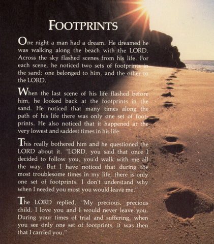 Footprints In The Sand Cremation Urns