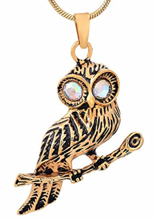 Owl Cremation Jewelry