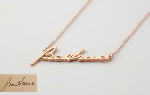 Necklace with Name On It Gold