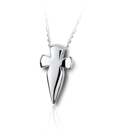 Hunter's Cross Sterling Silver Cremation Necklace
