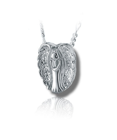 Angel Slider Sterling Silver Cremation Necklace