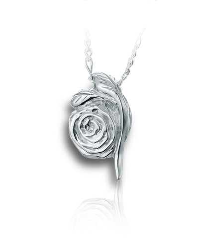 Eternal Rose Sterling Silver Cremation Necklace