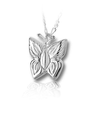 Butterfly Sterling Silver Cremation Necklace