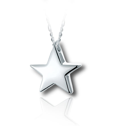 North Star Sterling Silver Cremation Necklace
