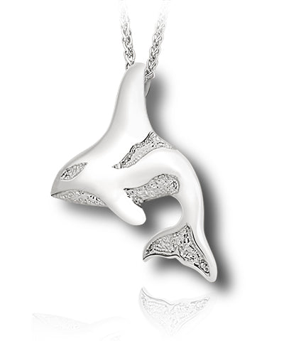 Orca Sterling Silver Cremation Necklace