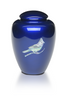 Cobalt Blue Cardinal Mother of Pearl Urn