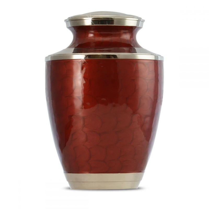 Red Adult Brass Urn