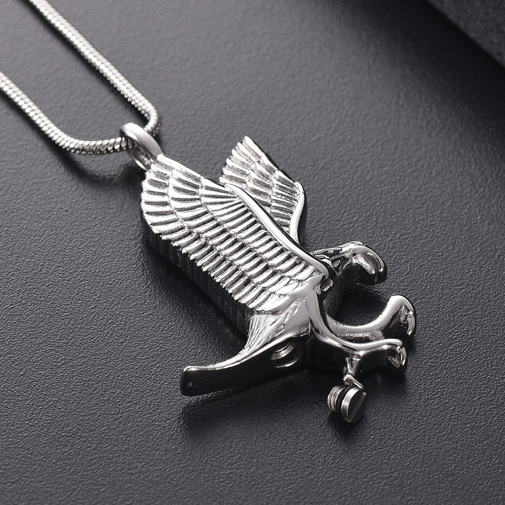 Eagle Cremation Necklace