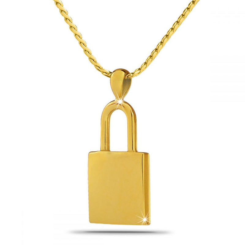 Eternal Lock Gold Cremation Necklace