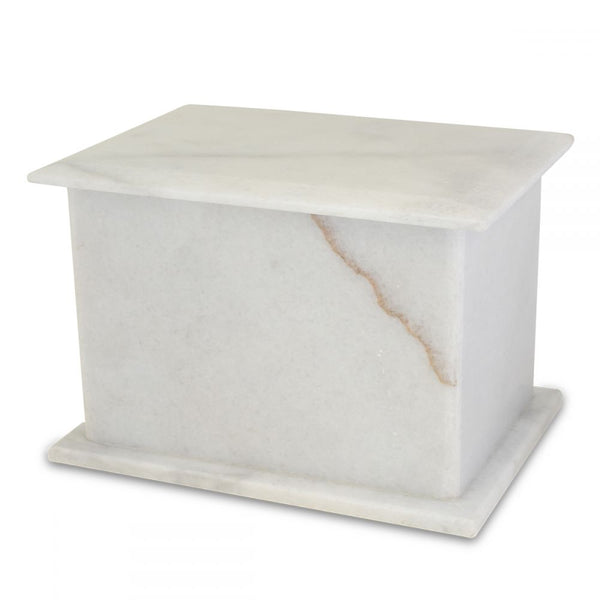 Cisco White Stone Urn