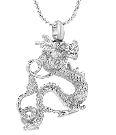 Mythical Dragon Cremation Necklace