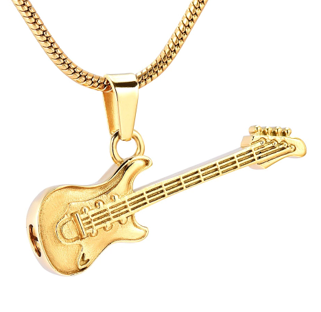 Electric Guitar Urn Necklace