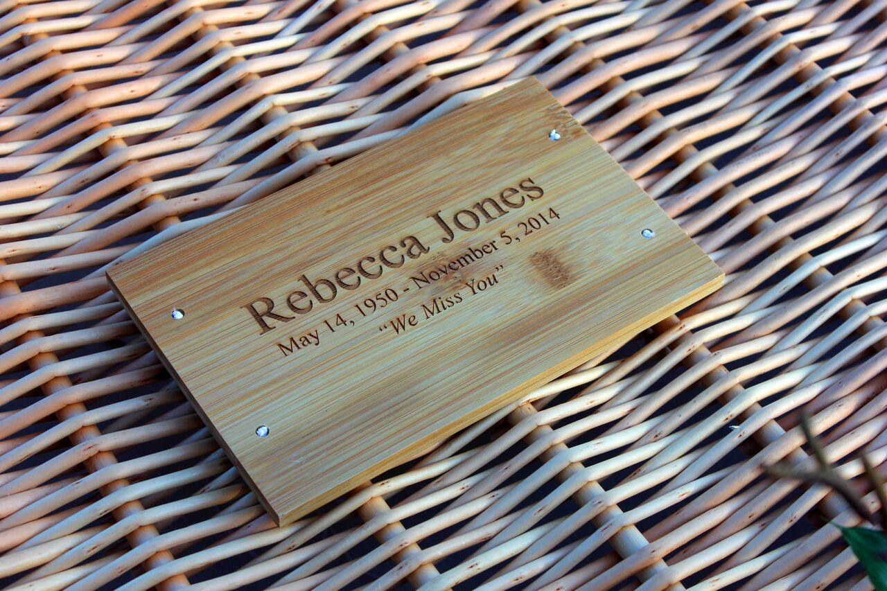 Bamboo Casket Plaques (engraved)