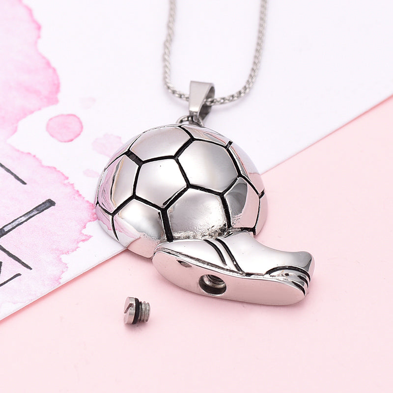 Soccer Cremation Necklace