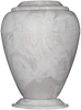 White Carerra Georgian Cultured Marble Cremation Urn