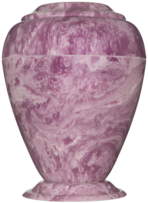 Purple Georgian Cultured Marble Cremation Urn