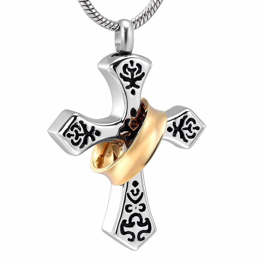 Perfect Harmony Cross Cremation Necklace