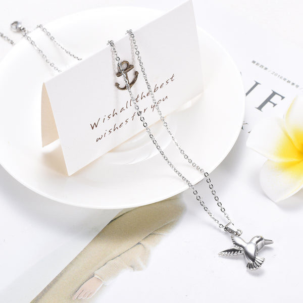 Little Hummingbird Cremation Necklace
