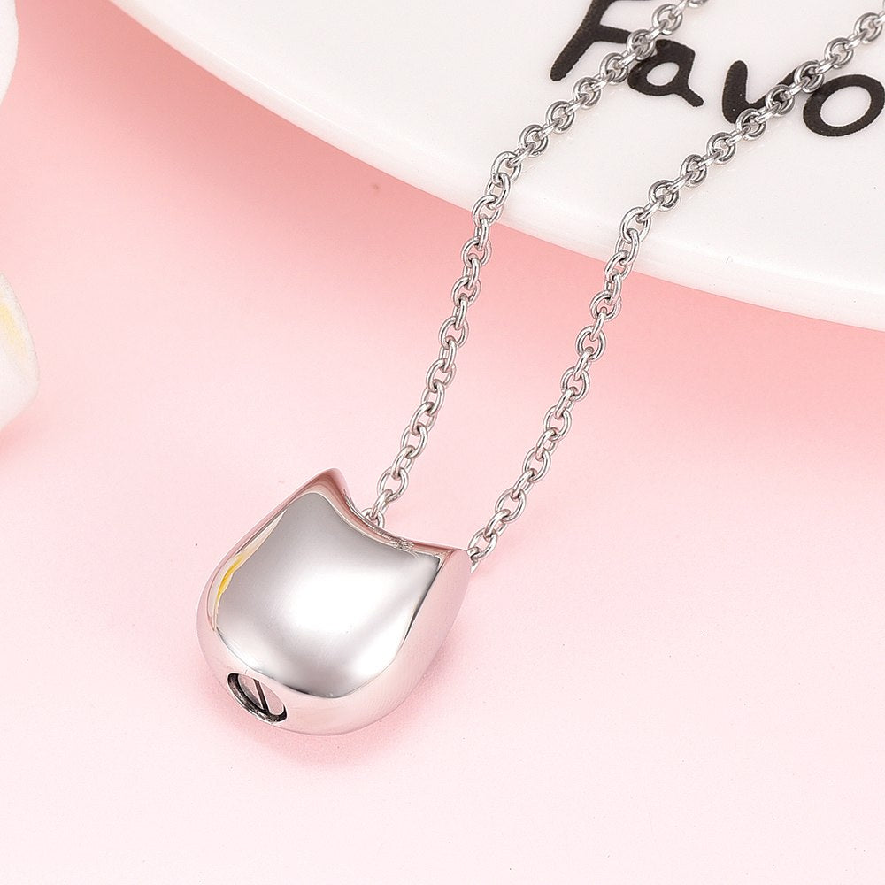 Cute Cat Cremation Necklace