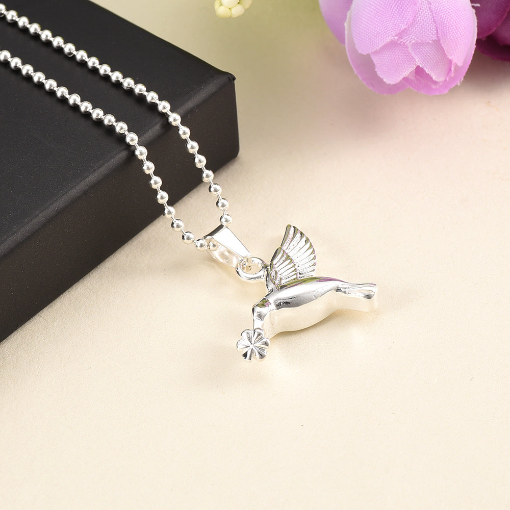 Sweet Hummingbird Cremation Necklace