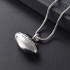 Football Cremation Necklace