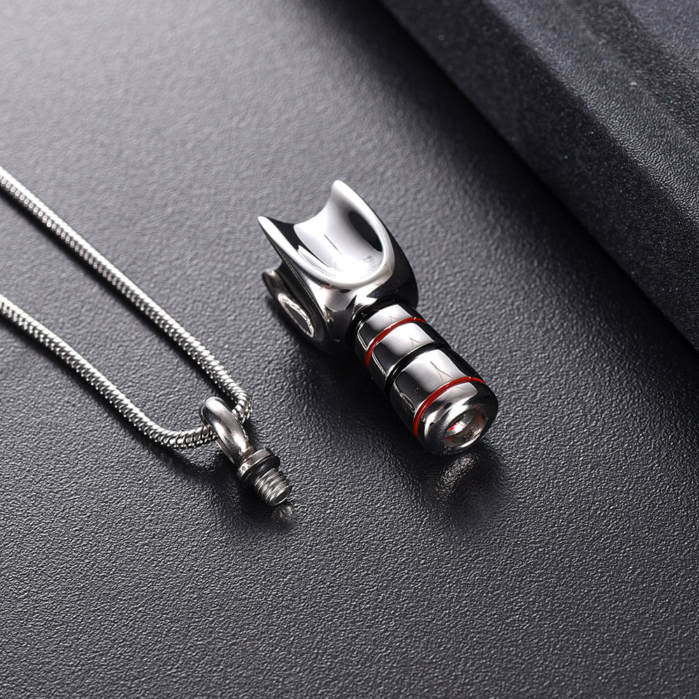 Final Frontier Cremation Urn Necklace