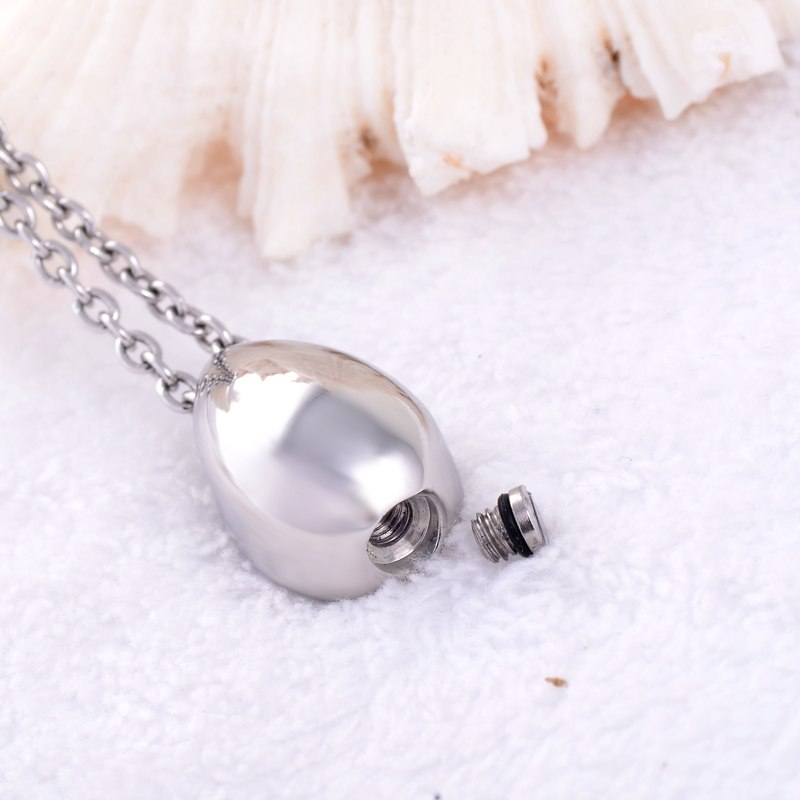 Teardrop Stainless Steel Cremation Necklace